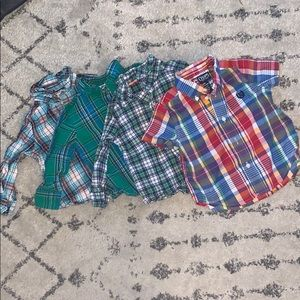 18 Month Plaid Dress Shirt Bundle!